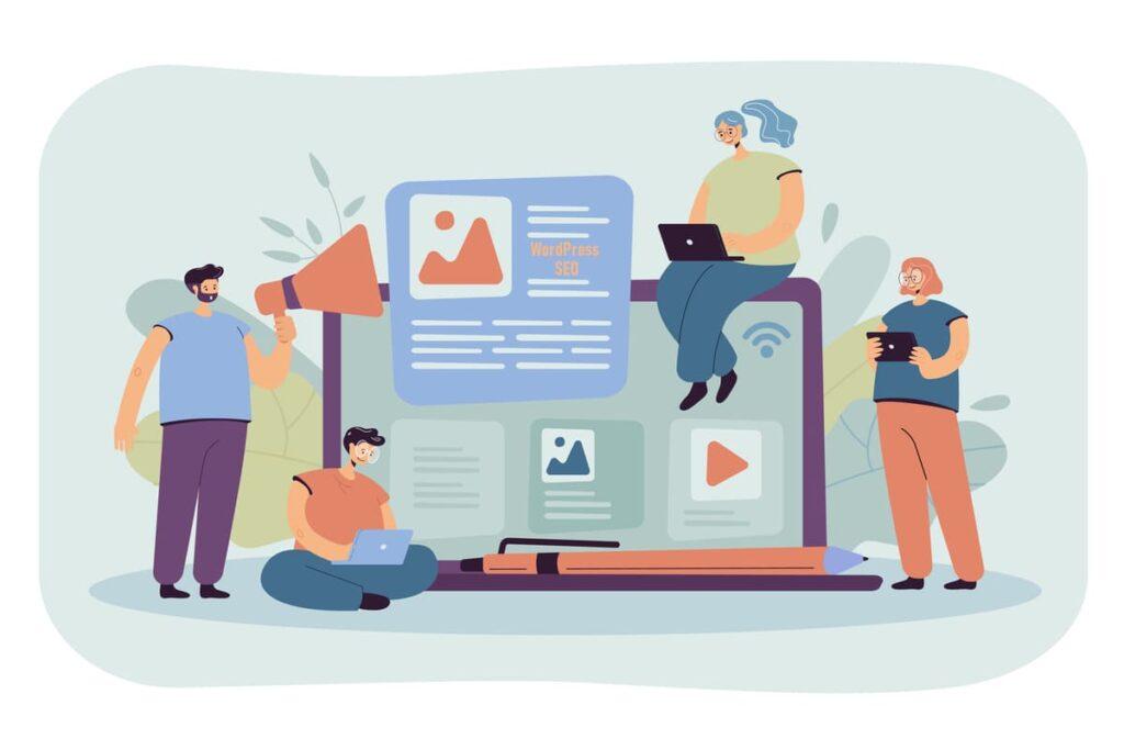 Wordpress seo illustration